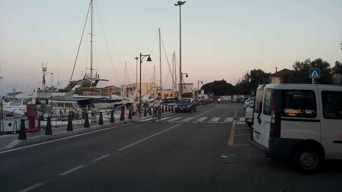 La zona portuale di Terracina