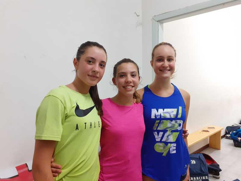 nella foto Giorgia Colasanti, Francesca Cergnul e Giulia Noce