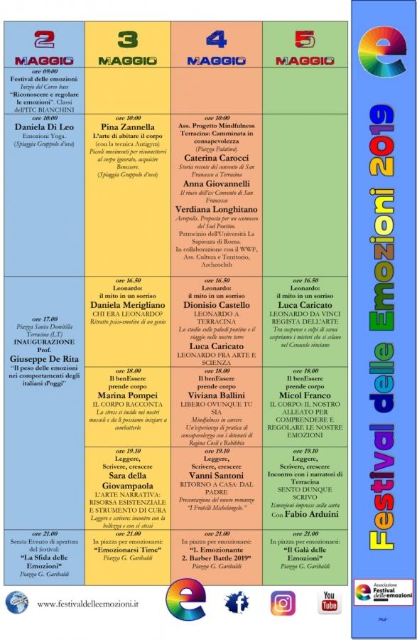 Programma Festival delle Emozioni